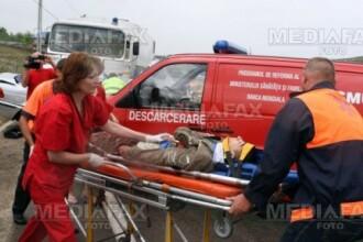 Sibiu: trei persoane ranite grav intr-un accident pe DN1