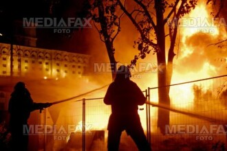 Incendiu de proportii intr-un magazin din Sibiu!
