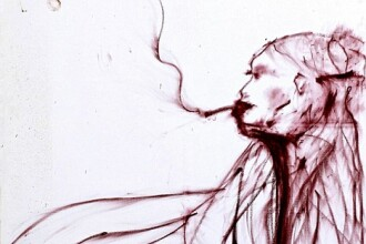 Autoportret Kate Moss din ruj si sangele fostului iubit