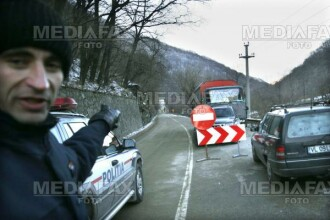 Blocaj rutier pe E 60, in Mures, din cauza unui accident rutier