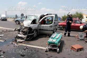 Pitesti: accident in lant pe DN 65