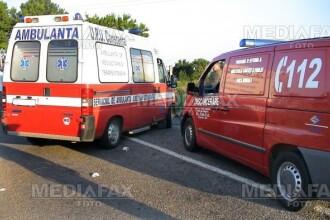 Impact puternic in centrul Sibiului! Doua persoane au ajuns la spital!