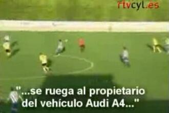 A oprit meciul cand a auzit, in difuzoare, ca i-a fost furata masina!!!