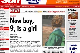 Schimbare de sex la 9 ani! Inca un baiat s-a intors la scoala FATA!