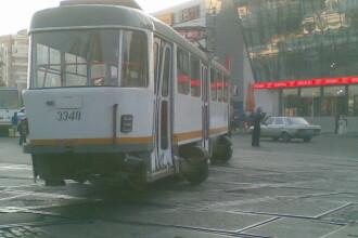 Momente de spaima! Tramvai deraiat in Capitala!