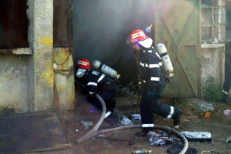 Incendiu fara victime, dar cu pagube de sute de euro in Capitala