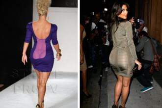 Dotate, nu gluma! Kim Kardashian vs. Coco Pitzipoanca. Pe care o preferi?