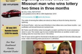 A castigat 3 mil de dolari la loto, dupa ce a visat numerele norocoase