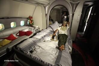 Primele imagini cu avionul de lux al lui Ghaddafi, dictatorul care