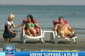 Fenomen extrem de rar la Mamaia. Insule aparute in mijlocul apei, pe care turistii fac plaja. VIDEO