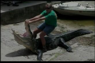 O femeie de 27 de ani a prins si omorat un crocodil de trei ori mai mare decat ea