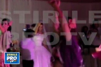 VIDEO. Dans tiganesc la nunta Elenei Basescu. Mireasa s-a distrat pe acorduri orientale