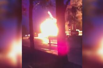 O conducta de gaze din Drumul Taberei a luat foc. Flacarile, cat un BLOC DE PATRU ETAJE. VIDEO