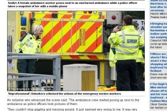 Ipostazele in care un paramedic a fost surprins la locul unui accident. A starnit furia trecatorilor