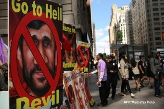 Adunarea Generala a ONU la New York. Protest in fata hotelului unde este cazat presedintele Iranului