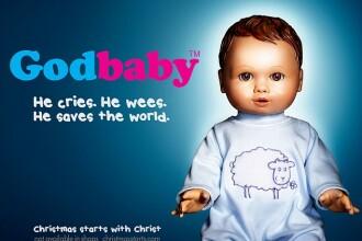 """Papusa """"micul Iisus"""" a starnit valuri de indignare. Cum vrea Biserica Anglicana sa vanda religia"""