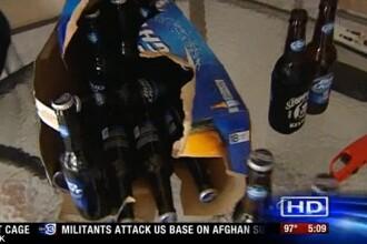 Ce a descoperit un barbat intr-un bax de bere.