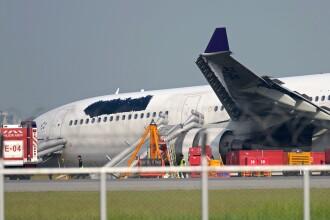 Un avion al Thai Airways a derapat pe pista la Bangkok. Oficialii s-au grabit sa-si stearga logo-ul