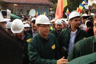 Minerii de la Rosia Montana au iesit din subteran impreuna cu Ponta.