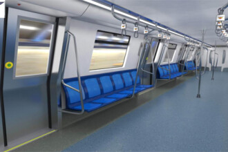 16 trenuri noi cumparate de Metrorex. Primele imagini cu noua garnitura de metrou din Bucuresti