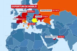 Harta exportului mobilei de lux din Romania, afacerea de peste 350 milioane de euro in 2013