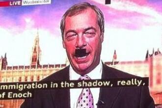 Gafa facuta de BBC in timpul unui discurs al liderului UKIP, Nigel Farage