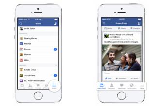 Facebook a redesenat aplicatia pentru utilizatorii iPhone si iPad cu noul iOS 7