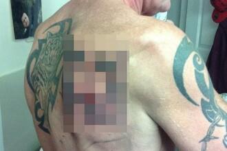 Ce a vrut sa-si tatueze Paul Gascoigne si ce a iesit. Imaginea postata pe internet
