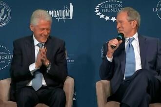 Bill Clinton a primit sfaturi de la George W.Bush cu privire la noul sau statut: acela de bunic