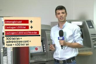 Bancile REFUZA sa afiseze comisioanele pe ecranul bancomatelor. Cati bani pierd clientii la fiecare 1.000RON scosi de pe card