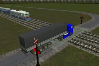 ANIMATIE GRAFICA. Un tren a deraiat la Bacau, dupa ce s-a izbit de un camion aparut pe sine. O persoana a murit dupa accident