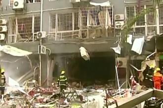 Cinci oameni au murit si 16 au fost raniti dupa ce o explozie a distrus un resturant din sud-vestul Chinei
