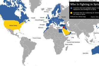 Harta Coalitiei contra SI. Romania, printre tarile care ofera sprijin militar si financiar pentru a distruge