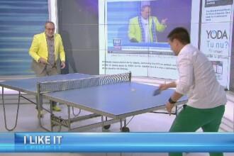 Experiment iLikeIT: George Buhnici si Busu au jucat ping-pong cu noul iPhone 6. Ce s-a intamplat cu telefoanele