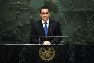 Ponta a sustinut un discurs la ONU:
