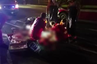 Un barbat a murit dupa ce a fost calcat de trei masini, in cateva secunde. Cum s-a intamplat tragedia