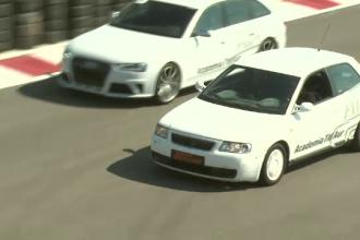 Masinile cu volan pe dreapta reprezinta un pericol in Romania, sustin politistii. Demonstratia facuta de pilotul Titi Aur