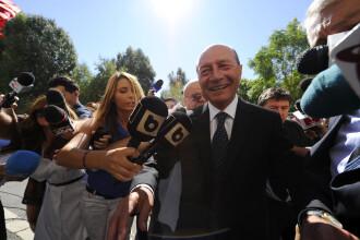 Traian Basescu a ajuns vineri in fata procurorilor in dosarul in care e acuzat de amenintare.