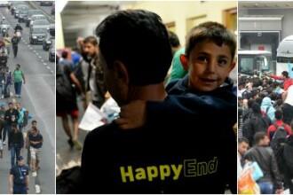 Filmul unei zile istorice in Europa: 6000 de refugiati in Austria; 10.000, asteptati in Germania. Amenintarea Ungariei