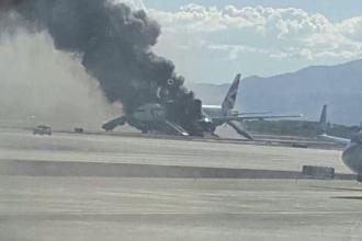 Un avion British Airways cu 159 de pasageri a luat foc pe aeroportul din Las Vegas. 13 persoane au fost ranite