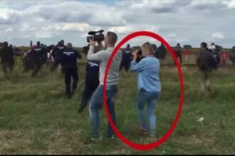 O jurnalista din Ungaria a lovit cu piciorul imigranti, inclusiv copii. Cum a fost sanctionata. VIDEO