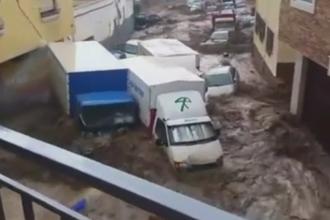 Imagini apocaliptice in sud-estul Spaniei. Trei morti in urma unor inundatii devastatoare, care au distrus zeci de case