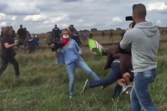 Jurnalista care a lovit imigranti, anchetata penal in Ungaria. Pe Facebook a fost creat un