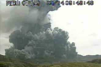 Alerta in Japonia, dupa ce vulcanul Aso a erupt. Vizitatorii au fost evacuati rapid din zona