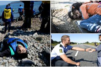Lupta pentru supravietuire a imigrantilor, in IMAGINI: Europa, intre reticenta si compasiune