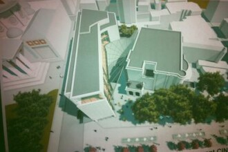 SIMULARE 3D Cum se vede intr-o simulare video 3D blocul pe care un investitor privat vrea sa il ridice langa Ateneu