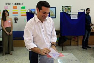 Rezultate preliminare in Grecia. Alexis Tsipras, dupa victoria categorica: