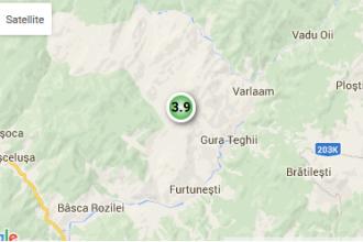 Cutremur cu magnitudinea de 3,9, in judetul Buzau, marti dimineata. Zonele in care s-a simtit seismul