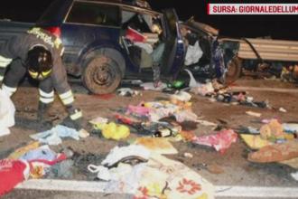 Doi romani, morti intr-un grav accident in Italia. Masina in care se aflau s-a ciocnit cu un autobuz plin cu pasageri