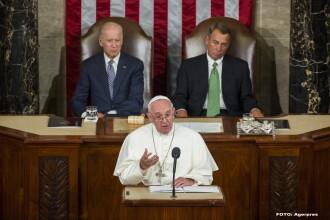 Papa Francisc s-a adresat Congresului american, o cinste rara de care au parte putini sefi de stat: